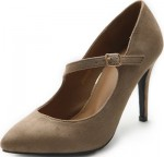 Cream Faux Suede High Heel Shoes