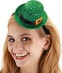 St Patrick's Day Women's Mini Sequin Leprechaun Hat