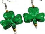 St Patrick's Day Shamrock Earrings