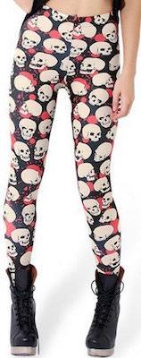 Black And Red Skull Leggings