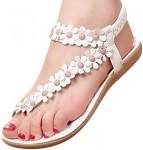 Women's Thong Sandals With Flowers