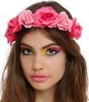women's Pink Roses Headband