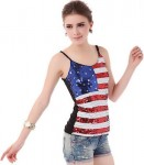 Sequins American Flag Camisole Top