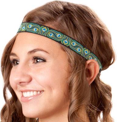 Women's Peacock Print Headband