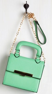 Mint Green Bag With Shoulder Strap