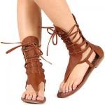 Women's Brown Gladiator Sandals