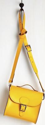 Yellow handbag With Strap