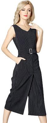 Women's Pencil Stripe Jumpsuit