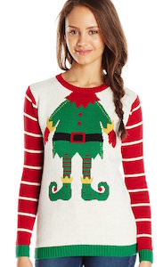 Women's Elf Costume Christmas Sweater
