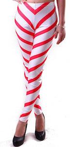Candy Cane Stripe Christmas Leggings