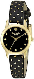 Kate Spade Mini Metro Black And Gold Women's Watch