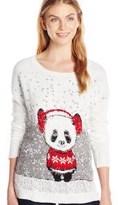 Panda Bear Christmas Sweater