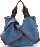 Blue Canvas Shoulder Handbag