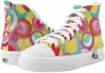 Painted Circles High Top Sneakers