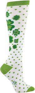 St Patrick's Day Shamrock Knee High Socks