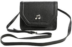 Black Music Note Crossbody Handbag