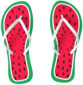 Watermelons Flip Flops