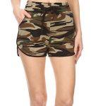 Women's High Waist Camouflage Shorts