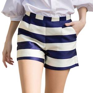 Women's Fashion Casual Striped Shorts
