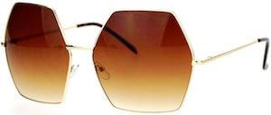 Oversized Octagon Shaped Sunglasses