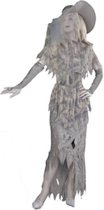 Women's ghost Halloween costume