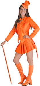 Women's Orange Tuxedo Costume
