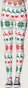 Fair Isle Christmas Print Leggings