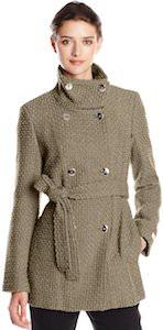 Women's Double Breasted Wool Calvin Klein Coat