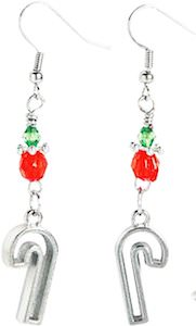 Candy Cane Cookie Cutter Christmas Earrings