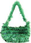 Green Hobo Style Handbag