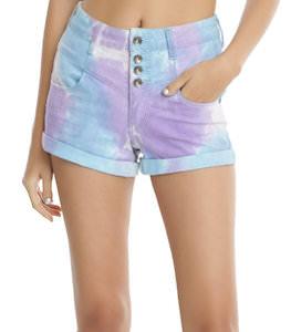 Women's Pastel Tie Dye Shorts