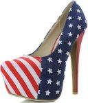US Stars And Strips Flag High Heels
