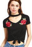 Women's Chocker Style Floral T-Shirt