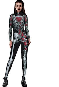 Women's Skeleton And Roses Costume