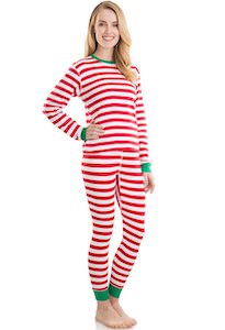 Women's Red And White Striped Pajama