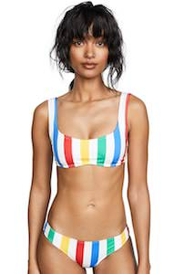 Color Striped Bikini Set