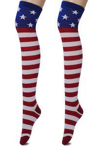 US Flag Knee High Socks