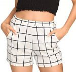 White Shorts With Squares