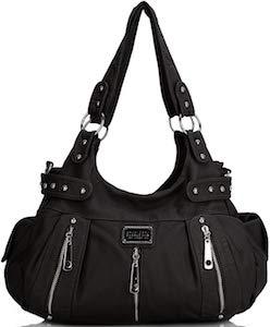 3 Front Zipper Shoulder Bag