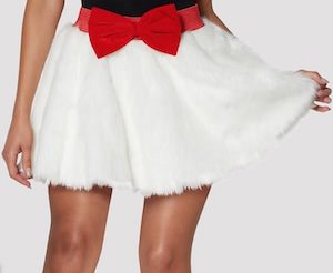 Faux Fur Christmas Skirt with build in lights