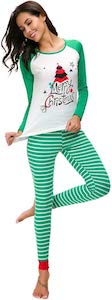 Women's Green Merry Christmas Pajama