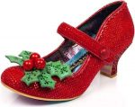 Women's Red And Holly Heels