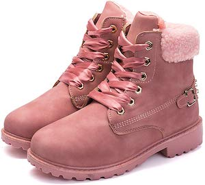 Pink Furry Snow Boots