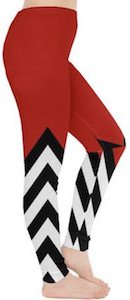 Red and Stripes Leggings