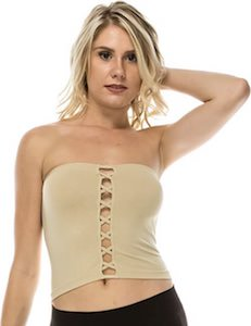 Tube Top With Front Straps
