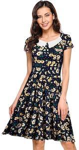 Women's Retro Daisy Dress