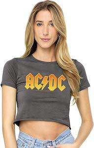 women's AC/DC Crop Top