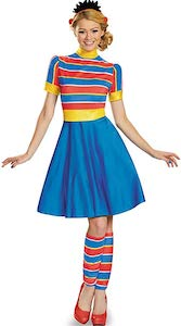 Women's Ernie From Sesame Street Costume Dress
