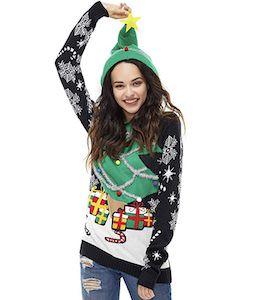 Christmas Tree Hoodie Christmas Sweater