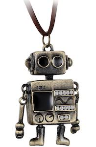 Cute Robot Necklace